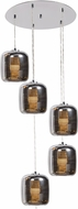 Access 62342LEDDLP-MSS-SMAMB Dor Modern Mirrored Stainless Steel LED Multi Pendant Light Fixture