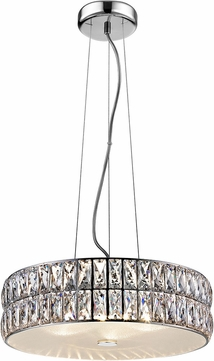 Access 62358LEDD-MSS-CRY Magari Mirrored Stainless Steel LED Small Drum Pendant Lighting Fixture