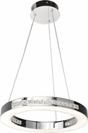 Access 62454LEDD-CH-CCL Affluence Modern Chrome LED 16  Pendant Lighting Fixture