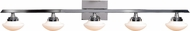 Access 62494LEDD-CH-OPL Atomiser Contemporary Chrome LED 5-Light Bath Lighting Sconce