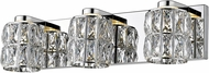 Access 62553LEDD-MSS-CCL Ice Mirrored Stainless Steel LED 2-Light Bathroom Light
