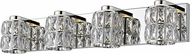 Access 62554LEDD-MSS-CCL Ice Mirrored Stainless Steel LED 3-Light Bathroom Lighting Fixture