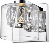 Access 62555LEDD-MSS-CCLCLR Private Collection Mirrored Stainless Steel LED Light Sconce