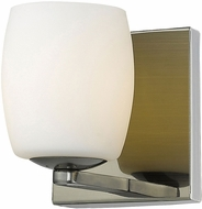 Access 62561-AB-OPL Serenity Contemporary Antique Brass Halogen Lamp Sconce