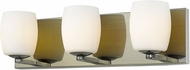 Access 62562LEDDLP-AB-OPL Serenity Contemporary Antique Brass LED 2-Light Bathroom Vanity Light