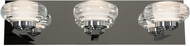Access 63973LEDD-CH-ACR Optix Contemporary Chrome & White Acrylic LED 3-Light Bath Lighting Fixture