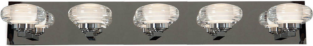 Access 63975LEDD CH ACR Optix Contemporary Chrome U0026 White Acrylic LED 5  Light. Loading Zoom