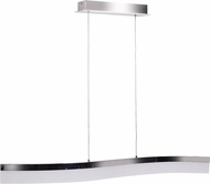 Access 63980LEDD-CH-ACR Linear Modern Chrome LED Kitchen Island Lighting