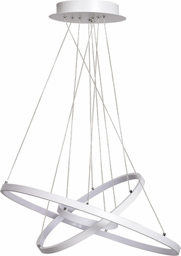 Access 63982LEDD-WH-ACR Eternal Modern White LED Hanging Pendant Light