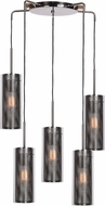 Access 63989-BCH-CLR Multis Modern Black Chrome Multi Drop Ceiling Lighting