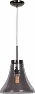 Access 63990-BCH-SMK Simplicite Modern Black Chrome Mini Ceiling Pendant Light