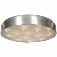 Access 70080LEDD-BSL-ACR Meteor Contemporary Brushed Silver Finish 13.25  Wide LED Flush Mount Ceiling Light Fixture