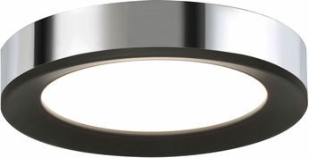 AFX AAF162600L30D1BKPC Alta Contemporary Black / Chrome LED Indoor / Outdoor 16  Ceiling Light Fixture