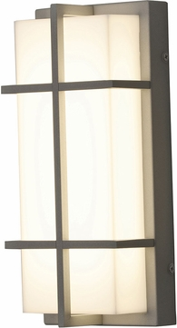 AFX AUW6122500L30MVTG Avenue Contemporary Textured Grey LED Outdoor 12  Wall Lamp