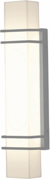 AFX BLW5232800L30MVTG Blaine Contemporary Textured Grey LED Outdoor 23  Wall Sconce Lighting