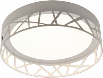 AFX BOF121400L30D1WH Boon Modern White LED Indoor / Outdoor Flush Mount Ceiling Light Fixture