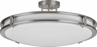 AFX CAC24418QENSN Carlisle Satin Nickel Fluorescent Flush Mount Light Fixture