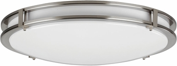 AFX CAF142400L Carlisle Contemporary Satin Nickel LED Interior / Exterior 14  Ceiling Lighting Fixture