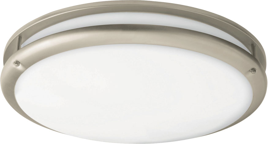 "AFX CCF L30D1SN Cashel Satin Nickel LED 12"" Flush Mount"