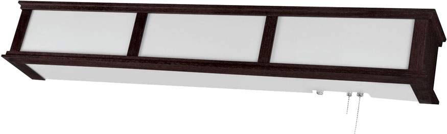 afx cmb332ese8 cameron espresso fluorescent overbed wall light fixture loading zoom