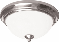 AFX CYF15218GU27SN Canterbury Satin Nickel Fluorescent 15  Flush Lighting
