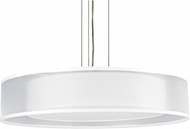 AFX CZPC418QSNMV-WHWH Cortez Satin Nickel Fluorescent Drum Pendant Lighting Fixture