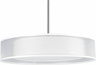 AFX CZPS418QSNMV-WHWH Cortez Satin Nickel Fluorescent Drum Hanging Pendant Light