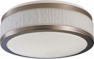 AFX FUF16218QMVSN Fusion Satin Nickel Fluorescent 15.5  Flush Ceiling Light Fixture