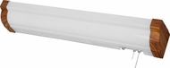 AFX GLB325E8MH Glenview Mahogany Fluorescent 38 Overbed Wall Lighting Fixture