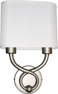 AFX HZS1016218QENSNFSS Hudson Satin Nickel Fluorescent Wall Sconce Lighting