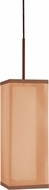 AFX LXP118KBSCT-BZWH Lux Okley Bronze Fluorescent Mini Hanging Light