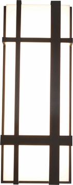 AFX MXW7183200L30MVBZ Max Contemporary Textured Bronze LED Outdoor 18  Wall Light Fixture