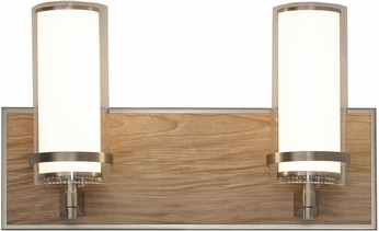 AFX RNV15081200L30D1SN Arden Satin Nickel LED 2-Light Lighting For Bathroom