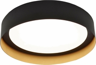 AFX RVF162600L30D1BKGD Reveal Contemporary Black / Gold LED Interior / Exterior 16  Flush Mount Light Fixture