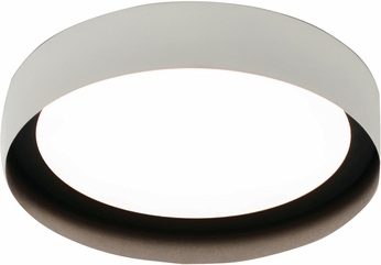 AFX RVF162600L30D1WHBK Reveal Modern White / Black LED Indoor / Outdoor 16  Flush Mount Lighting Fixture