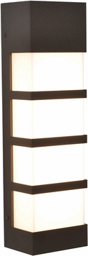 AFX SEW5182300L30MVBZ State Contemporary Textured Bronze LED Outdoor 17 Lighting Sconce