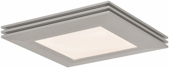 AFX SLF12121100L30D1SN Sloane Contemporary Satin Nickel LED Interior / Exterior 15  Flush Ceiling Light Fixture