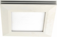 AFX SLF12121100L30D1WH Sloane Modern White LED Indoor / Outdoor 15  Flush Mount Ceiling Light Fixture