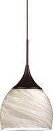 AFX SXPL45040WHRBD1 Essex Contemporary Rubbed Bronze LED Mini Hanging Light Fixture