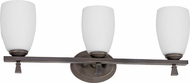 AFX VOV313RBSCT Voltare Rubbed Bronze Fluorescent 3-Light Bathroom Vanity Light