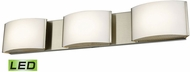 Alico BVL913-10-16M Pandora Contemporary Satin Nickel LED Vanity Light Fixture