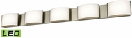 Alico BVL915-10-16M Pandora Contemporary Satin Nickel LED Bathroom Lighting Sconce