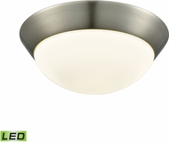 Alico FML7150-10-16M Contours Satin Nickel LED Medium Flush Mount Lighting