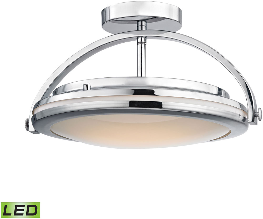 Alico FML801 PW 15 Quincy Contemporary Chrome LED Flush Mount Light Fixture