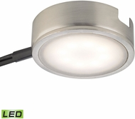 Alico MLE301-5-16M Tuxedo Modern Satin Nickel LED Under Counter Puck Light w/ Power Cord & Plug