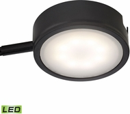 Alico MLE301-5-31 Tuxedo Modern Black LED Undercabinet Puck Lighting w/ Power Cord & Plug