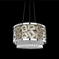 Allegri 022356-010-FR001 Carravagio Chrome Firenze Clear 18  Hanging Pendant Lighting