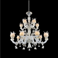 Allegri 027172-010-FR001 Artemisia Polished Chrome Firenze Clear 42  Hanging Chandelier