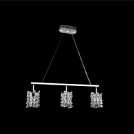 Allegri 028951-010-FR001 Dolo Chrome Firenze Clear Kitchen Island Light