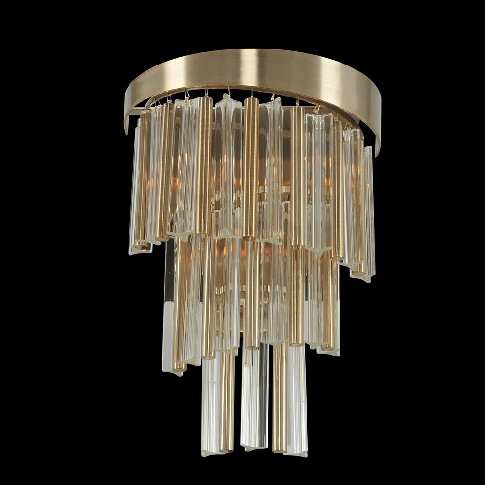 Allegri 029820 Espirali Brushed Champagne Gold Lighting Wall Sconce - ALL-029820